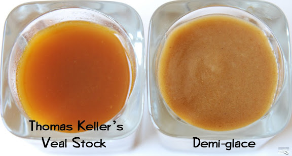 Thomas Keller's Veal Stock vs Demi-glace