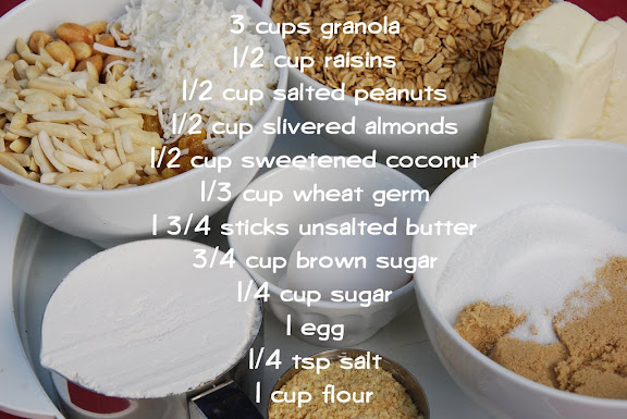 Ingredients for Granola Grabbers