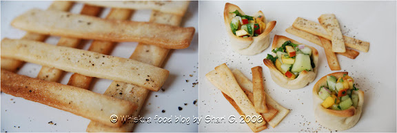 Lavash Crackers and Honeydew-Peach Salsa