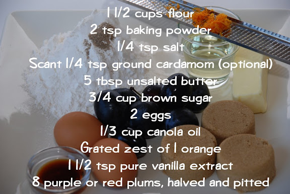 Dimply Plum Cake Ingredients