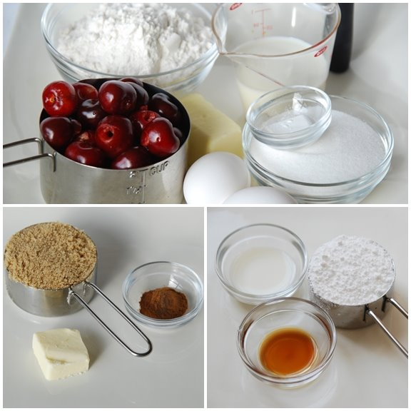 Ingredients for Streusel Coffee Cake with Cherries