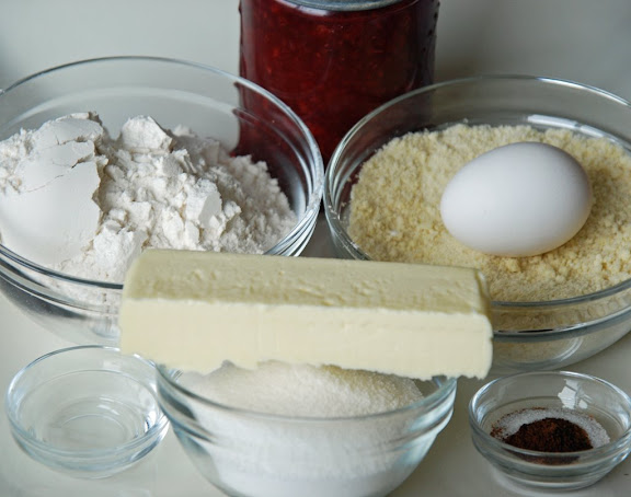 Ingredients for Linzer Sablé Cookies