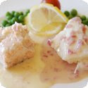 Brochet au beurre blanc (Whole Poached Pike with White Butter Sauce)