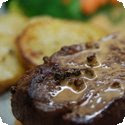 Pavs de Rumsteak au Poivre Vert (Sirloin Steaks with Green Peppercorns)