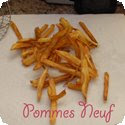 Pommes de terre pour frire (Different cuts for deep-fried potatoes)