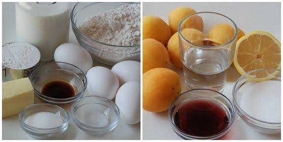 Pets de Nonnes (Choux Pastry Fritters with Apricot Sauce) mise en place
