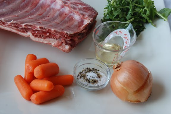 Carre d'Agneau (Rack of Lamb) mise en place