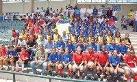 """La Fedofútbol, Pastoral Juvenil y Sirve Quisqueya pusieron en marcha el """"Centro de Talentos"""" de balompié de la provincia Santo Domingo en el Parque de"""