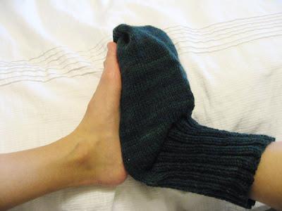 Hand Knit Bear Mitten