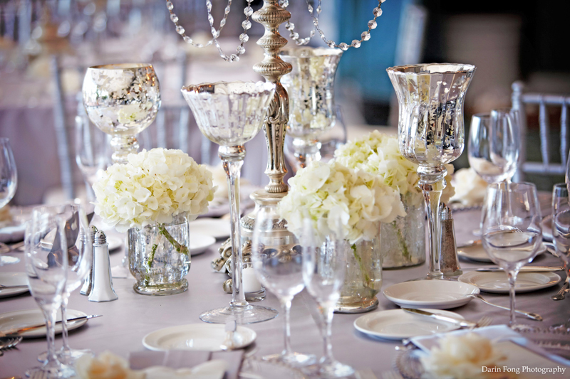 chic rustic wedding decor photograph mercury glass wedding