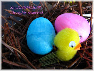Easter Eggs and Chick in nest Craft Project ideas for kids to make