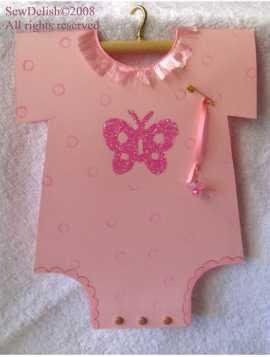 Baby Onsie Card onesie tutorial craft project babies boy girl twins