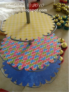 Cupcake doilies on stand accent essentials cricut expression  chocolate cupcakes