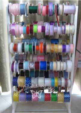 ribbons organise spools cord wire store ribbon organize shoe rack