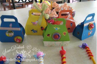 birthday party craft handbag boxes make