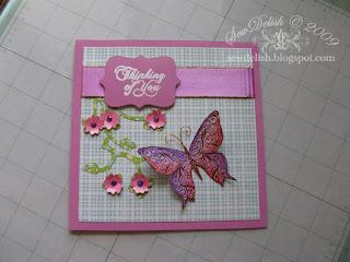 Cricut storybook cartridge Kaiser butterfly stamp card
