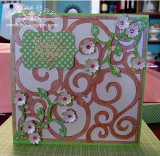 Cricut Expression card Happy Birthday vine
