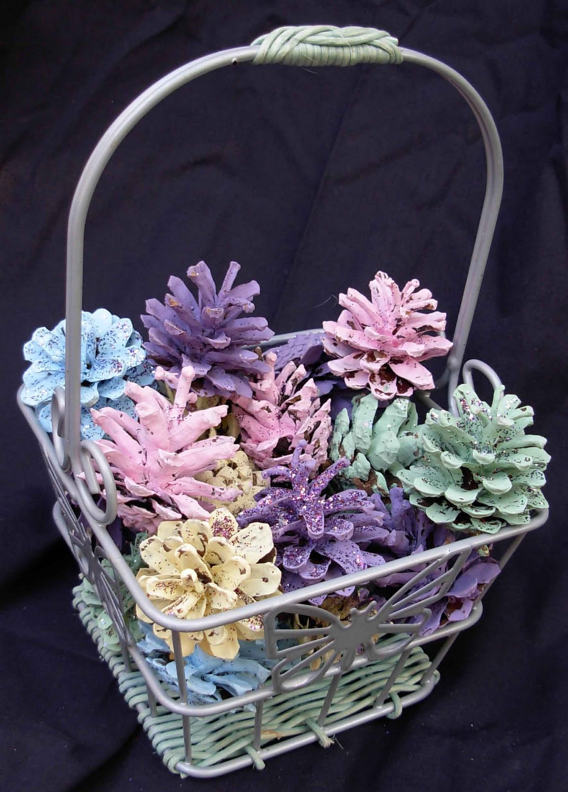 Crack of dawn crafts simple pinecone easter centerpiece