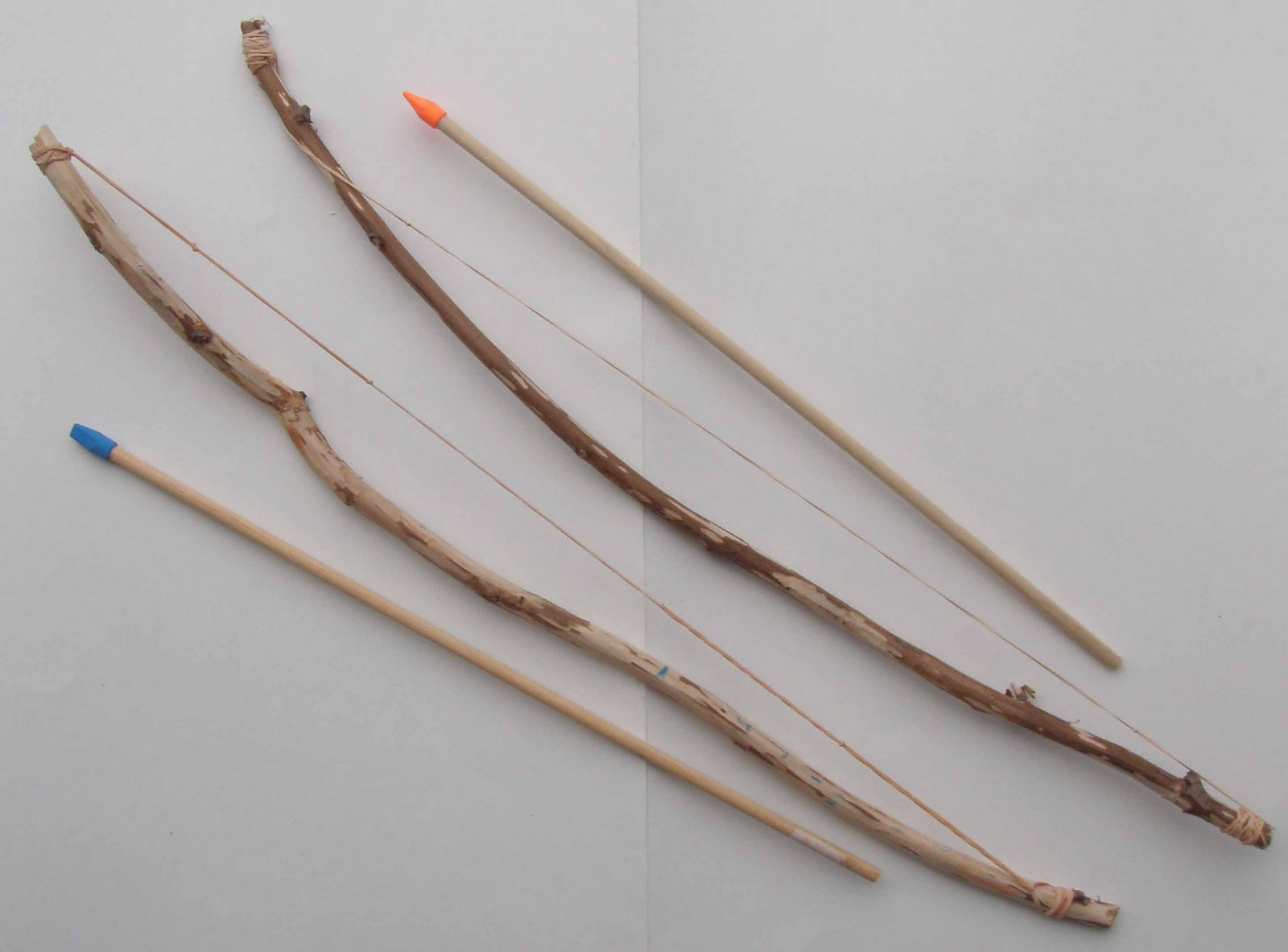 Crack of dawn crafts january 2011 - How to make a homemade bow and arrow out of wood ...