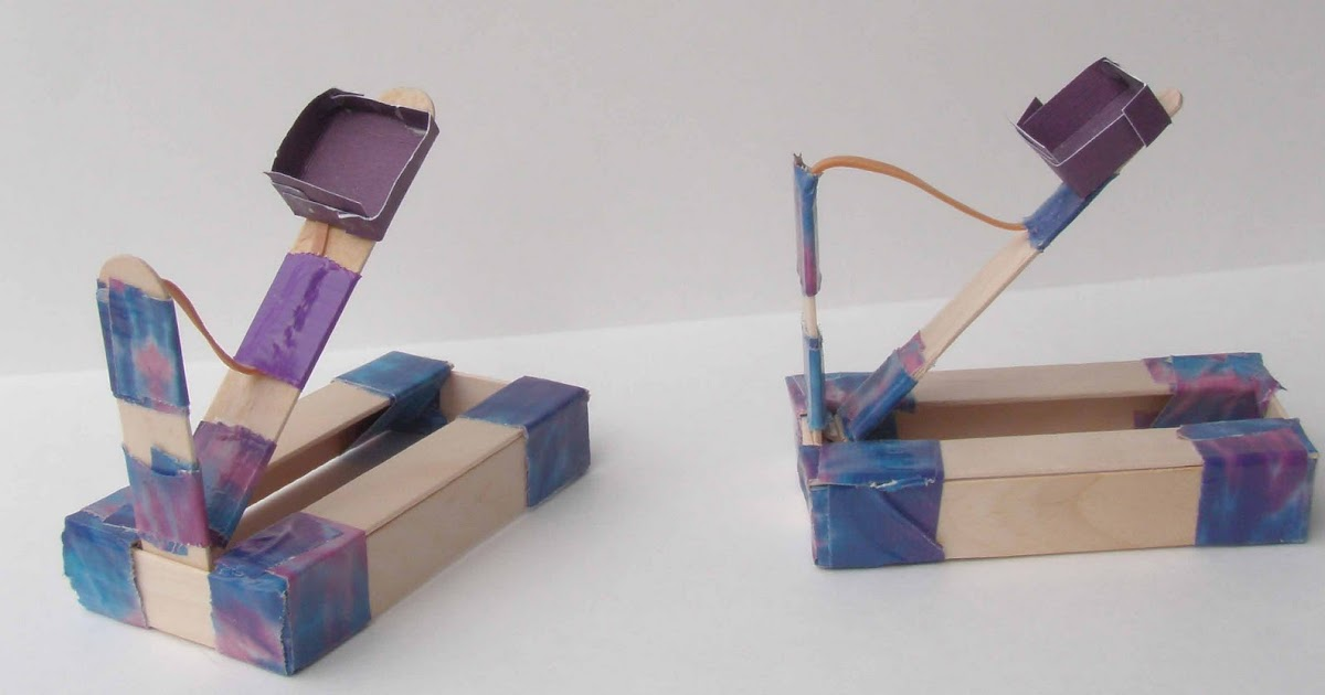 Crack of Dawn Crafts: Knight Party: Storm the Castle ...  How To Build A Catapult With Popsicle Sticks