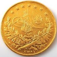 1293/12 250 Kuruş Altın TURA yüzü