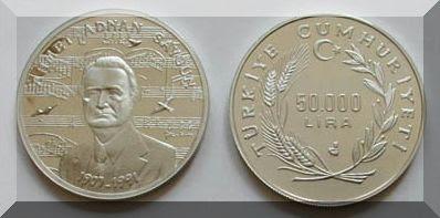 Ahmet Adnan Saygun Hatıra Parası
