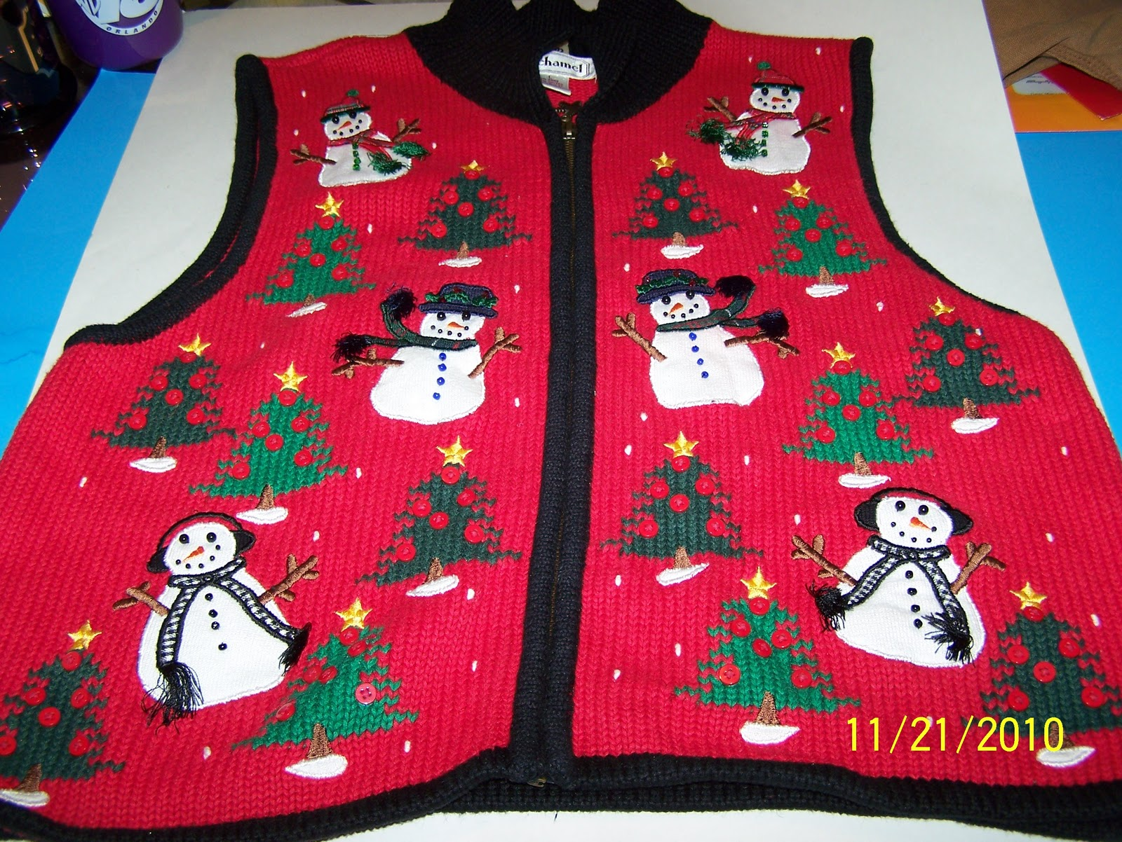 Mens tacky christmas sweater vest