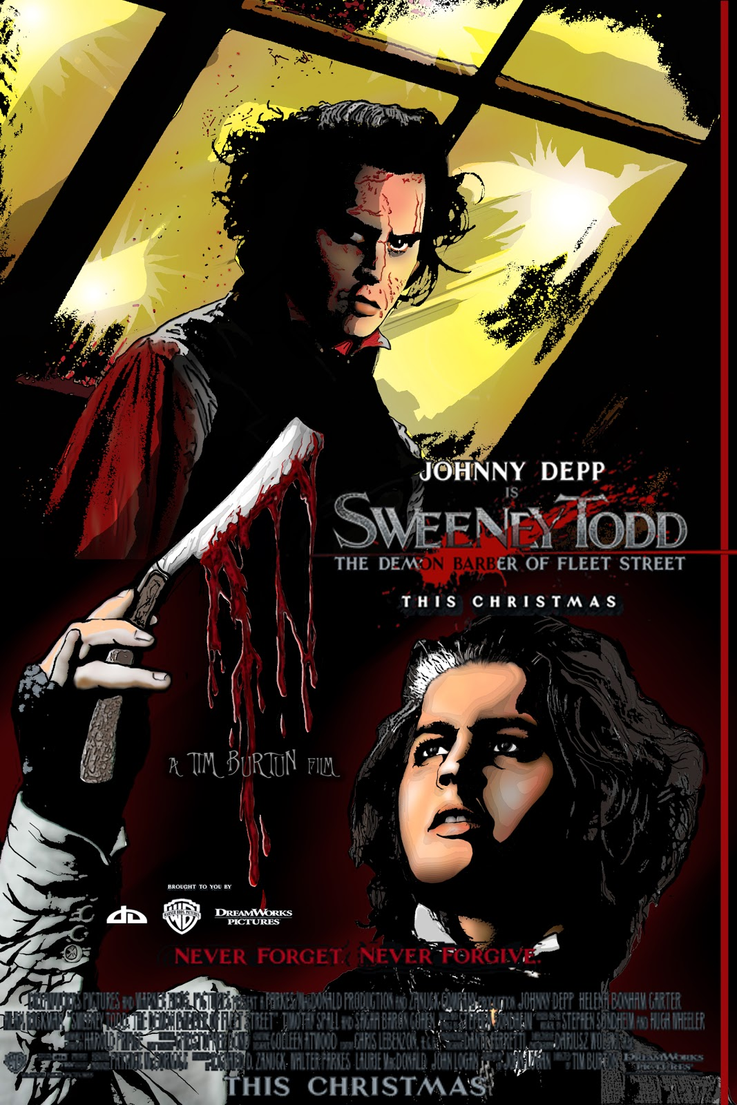 the hero makers art blog sweeny todd movie poster