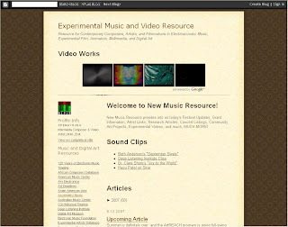 Experimental Music and Video Resource