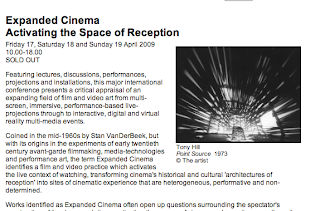 Tate Modern - Expanded Cinema Symposia