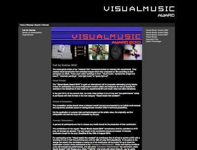 Call for Entries 2010 - Visual Music Award