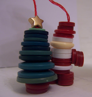 Button Christmas Decorations