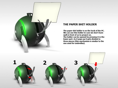 pc of the future - e-ball - paper shit holder