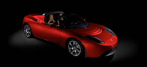 tesla roadster - electric car by tesla motors