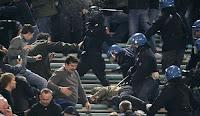 Violence rome football team