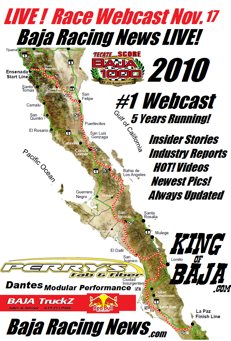 Baja Racing News LIVE   LIVE   PRE RACE WEBCAST NOW  BAJA 1000