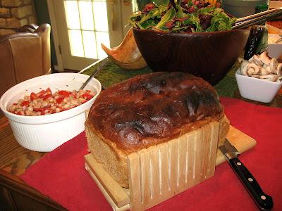 DIVASOFTHEDIRT bread salad and beans
