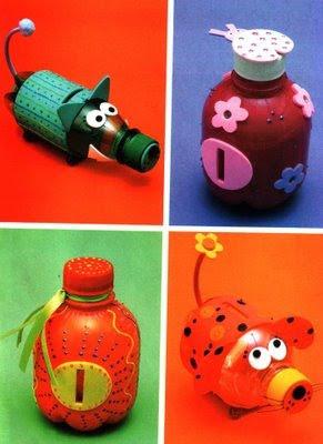 Manos creativas manualidades con botellas - Reciclaje manualidades decoracion ...