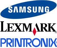 Samsung, Lexmark & Printronix Logo