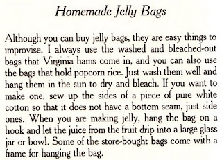 Homemade Jelly Bags