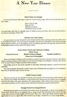 1934 Dinner Menu