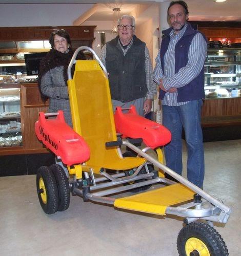 Redespinamar silla de ruedas para playa - Carro para playa transportar sillas ...