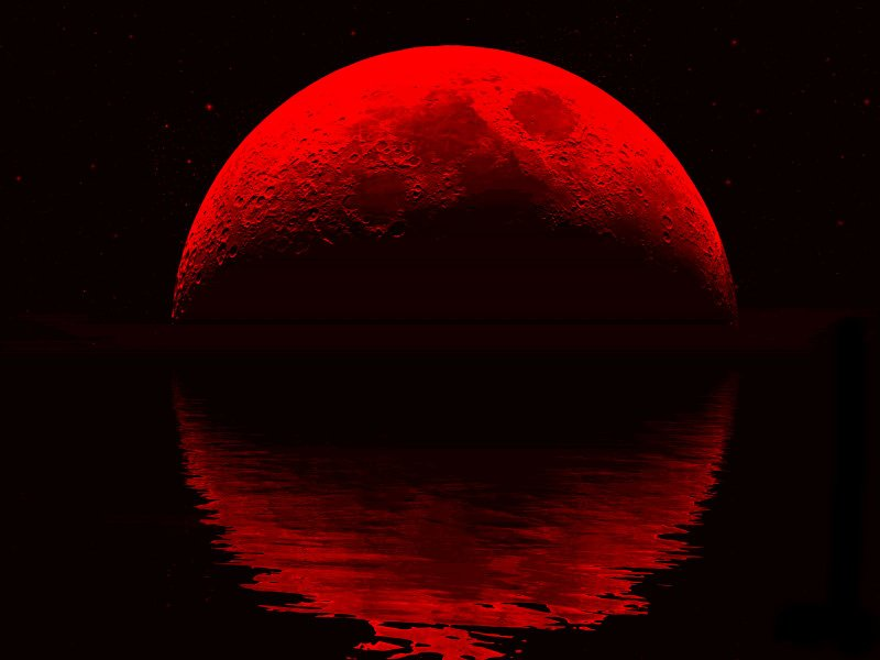 the gypsy on words unspoken: blood red moon...