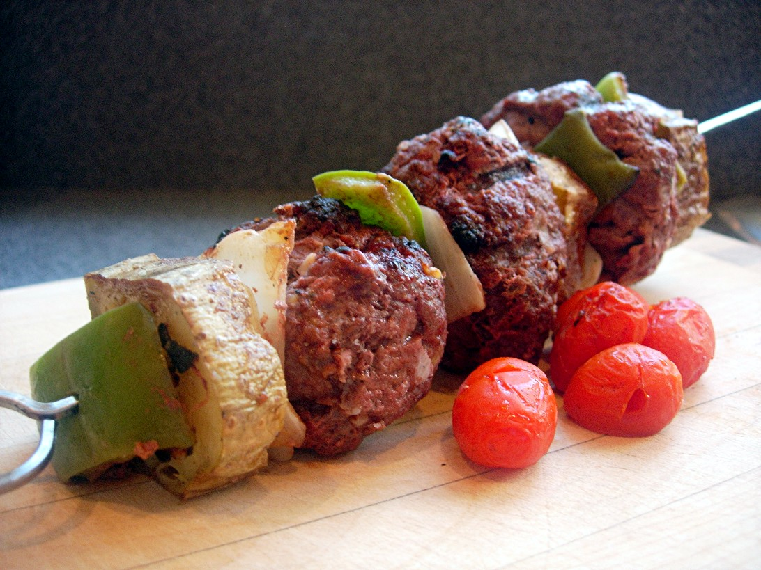 Hamburger Skewers for Picky Pickers ~ Drick's Rambling Cafe