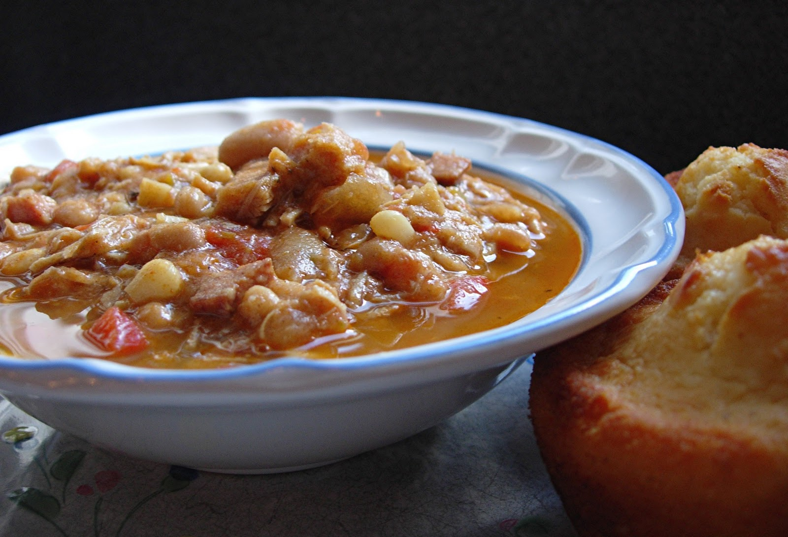 White Bean & Roasted Chicken Chili | Drick's Rambling Cafe