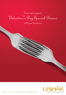 Creativeadvantage Valentines Day Special Dinner Ad For Ubhar Restaurant