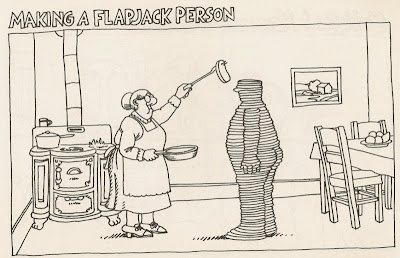 B. Kliban making a flapjack person