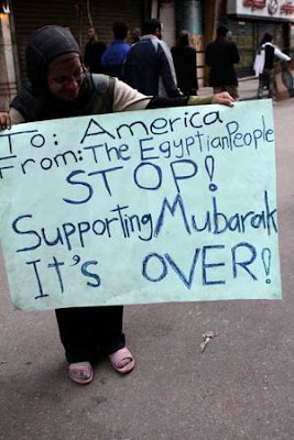 stop supporting mubarak it's over america