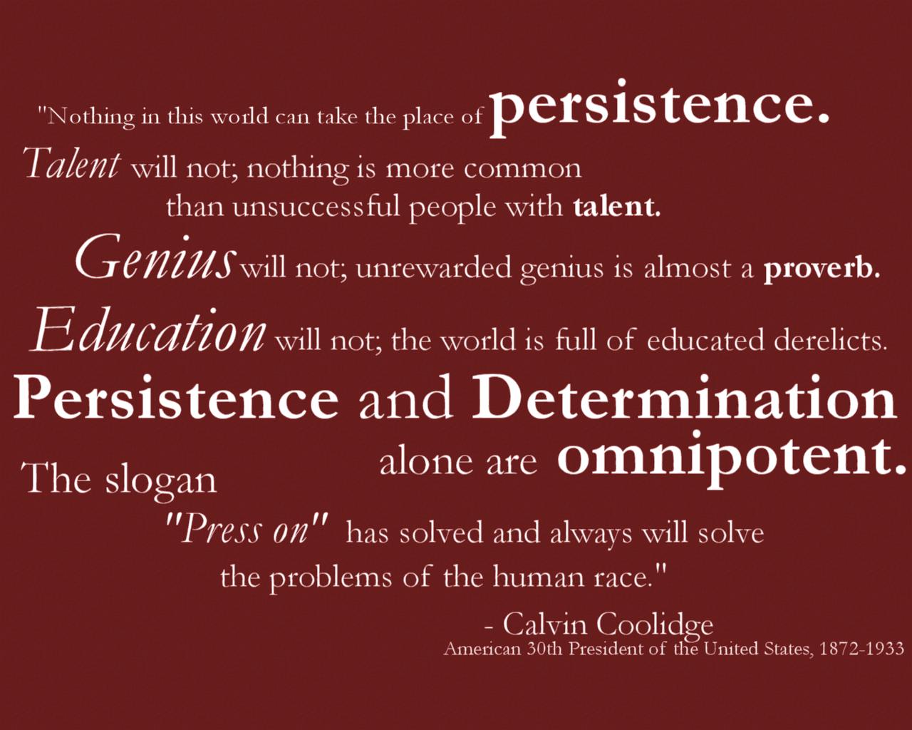 perseverance quotes coolidge quotesgram