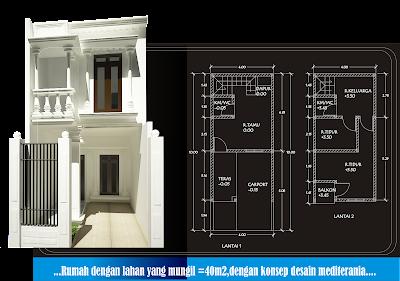 desain modern minimalis: rumah lantai 2 diarea yang sempit